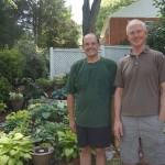 l. to r. John Auditore and Ted Williams, First Place Garden winners2013